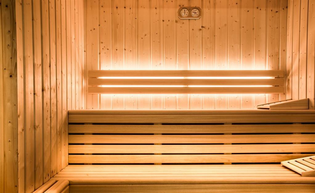 Sauna de la résidence haut de gamme Les Cimes à La Clusaz, location appartement montagne